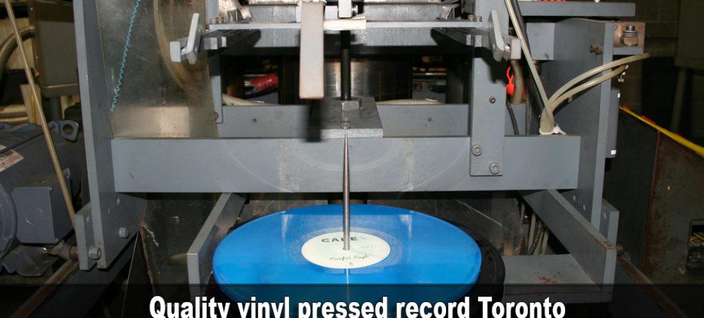 Quality vinyl pressed record Toronto