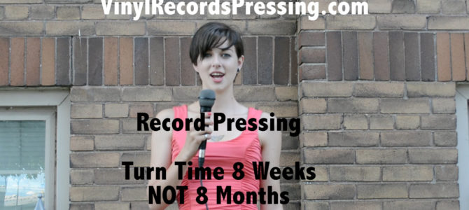 Video vinyl records pressing