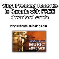 Vinyl Press Record In Canada with FREE download cards