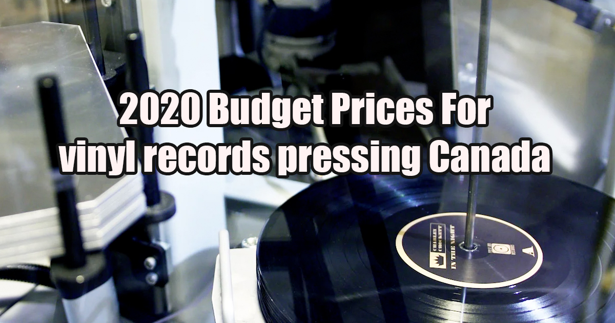2020 Plate Prices For vinyl records pressing
